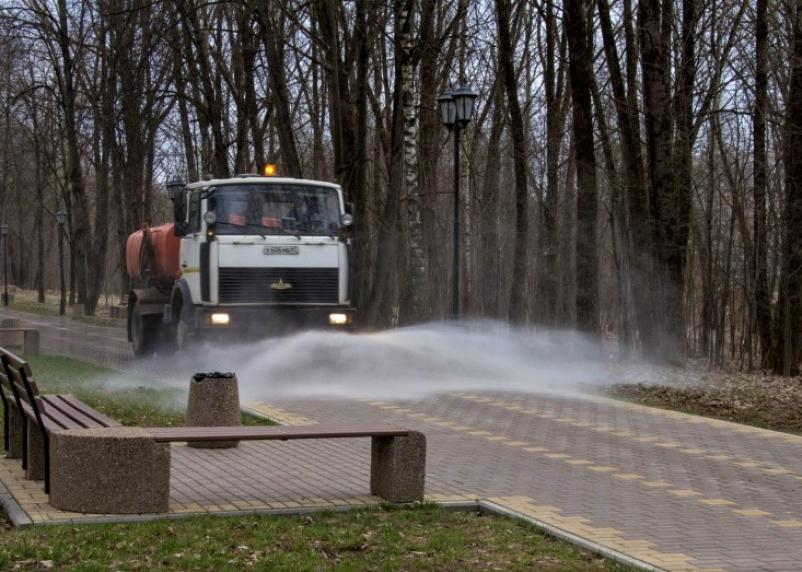 В Смоленске из-за коронавируса дезинфицируют парки и скверы