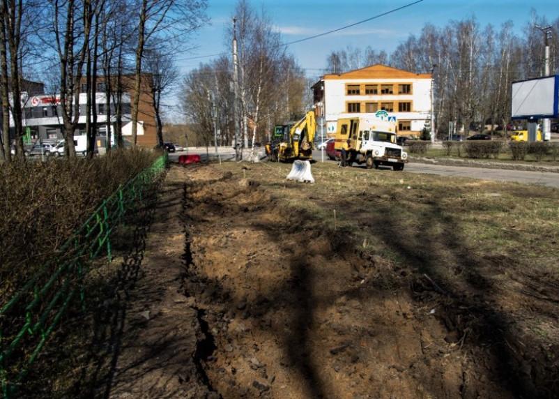 В Смоленске приступили к ремонту улицы Попова