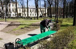 В центральном смоленском парке обновили скамейки