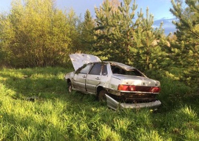 Вылетел в кювет. В Вяземском районе пострадал водитель Киа