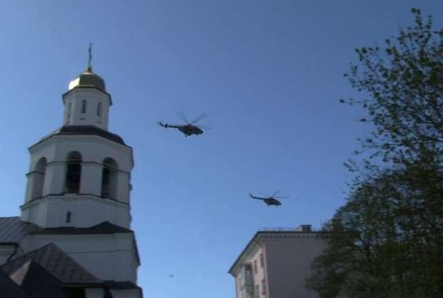 Над Смоленском пролетели вертолеты Ми-8