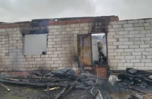 В Смоленской области в горящем доме пострадал человек