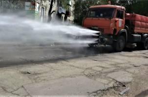 Специалисты продезинфицировали улицы в Вишенках