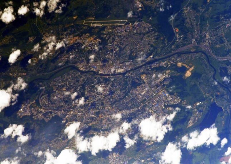Смоленск показали с борта МКС