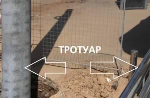 Тротуар шириной в метр. Прокуратура займется «подарками» строителей на улице Николаева
