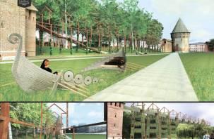 В Смоленске предложили  «соединить» две башни крепостной стены