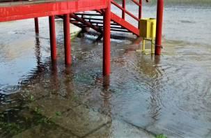 В Гагарине ливень затопил несколько улиц