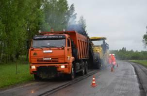 Смоленскавтодор начал ремонт дороги, соединяющей четыре районных центра