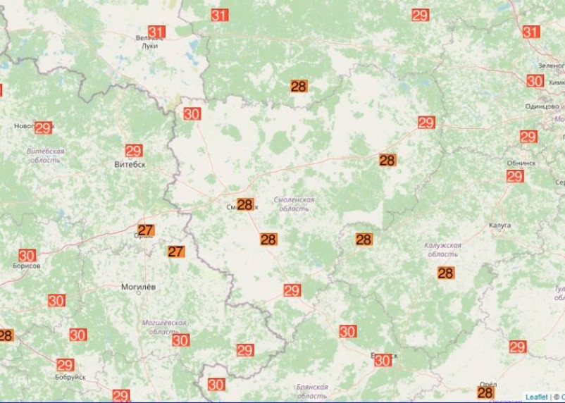 В Смоленске побит рекорд температуры 1946 года