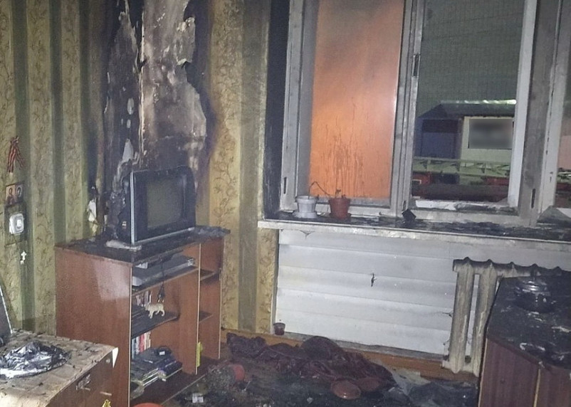 Телевизор стал виной пожара в Сафоново