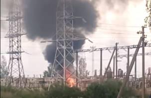 Пожар под Смоленском оставил часть города без света