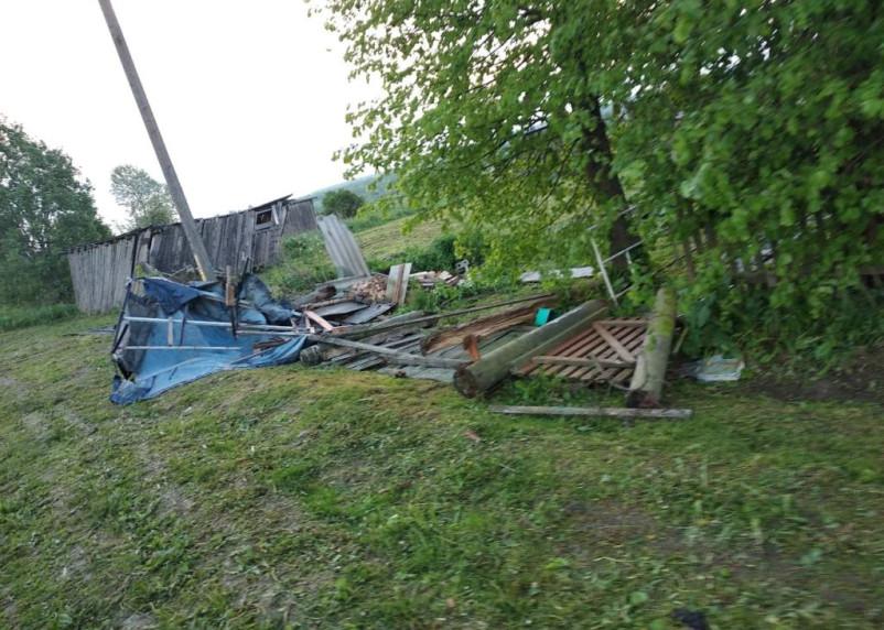 На деревню в Смоленской области обрушился смерч