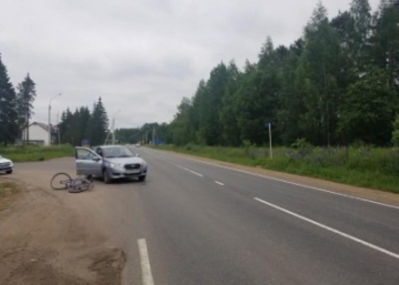 В Смоленском районе иномарка сбила велосипедиста