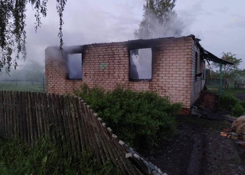 В пожаре в Сафоновском районе погибла женщина
