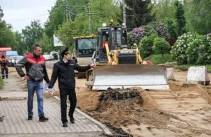 Подрядчиков в Смоленске ждут штрафы за несоблюдение безопасности дорожного ремонта