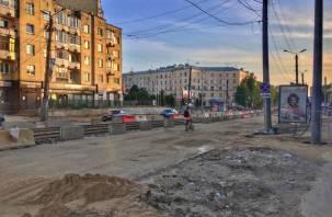 Подрядчик по ремонту улицы Николаева возьмется за центр Смоленска