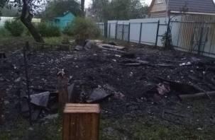 В Вишенках сгорел дом