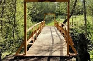 Мост Любви в Смоленском Поозерье полностью реконструировали