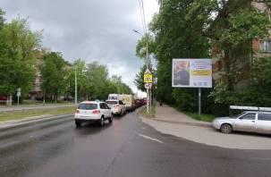 В Смоленске установили баннеры с изображением Влада Бахова