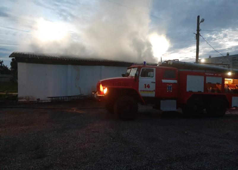 В Сафонове сгорел продуктовый магазин