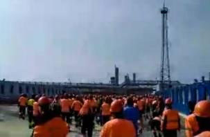 На амурском заводе «Газпрома» вахтовики устроили погром