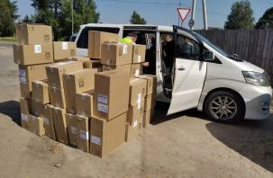 На Смоленщине пограничники задержали минивэн с нелегальными сигаретами