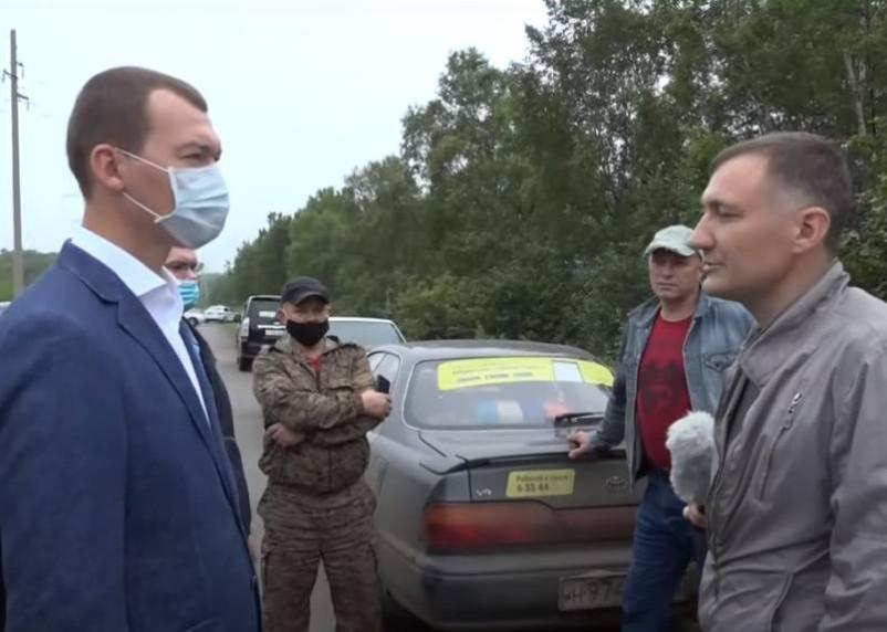 Дегтярев пообщался с протестующими в поддержку Фургала хабаровчанами