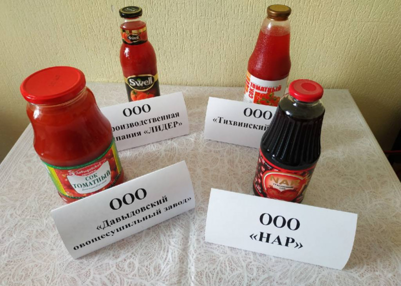 В Смоленске проверили качество соков. Только один прошел испытания