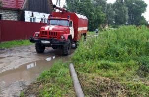 Более 20 приусадебных участков смолян подтопило из-за сильных дождей