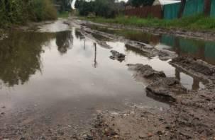 Последствия непогоды: в Смоленской области затопило дворы