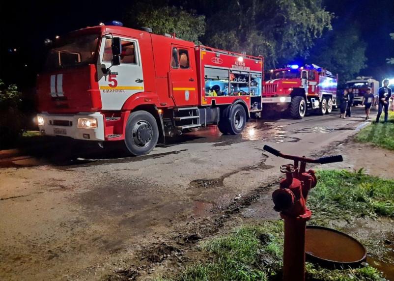 В результате утреннего пожара в Смоленске пострадал человек