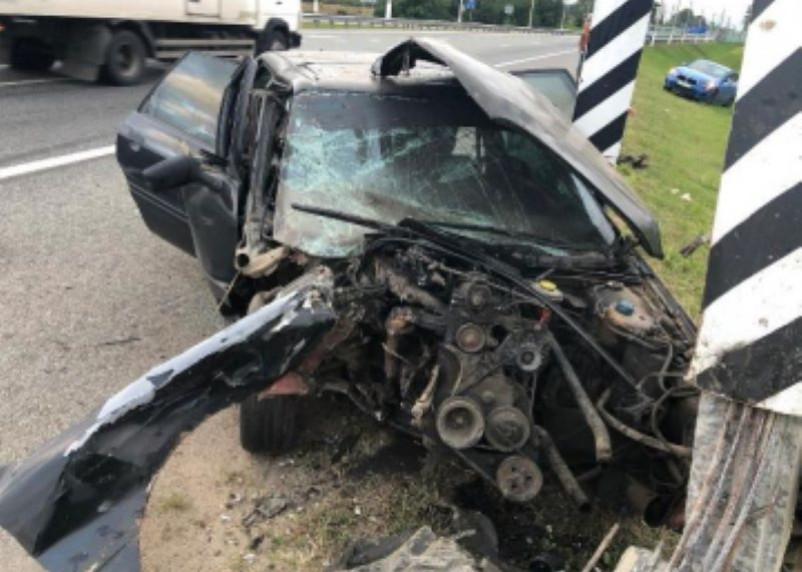 Водитель в больнице. Жесткое столкновение двух иномарок произошло в Починковском районе