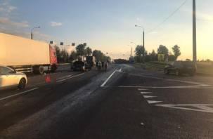 Два человека попали в больницу после ДТП с фурой в Сафоновском районе