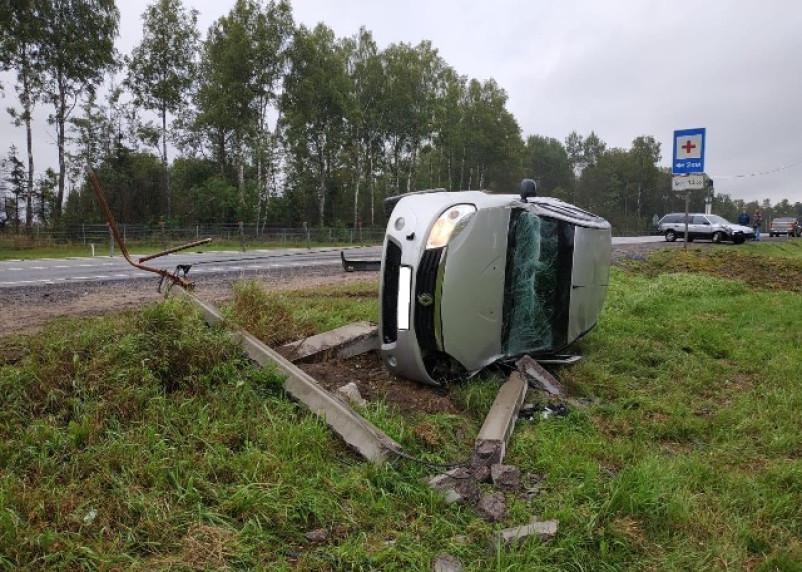 Жесткое столкновение двух автомобилей произошло в Вяземском районе