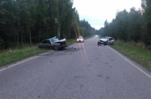 В Рославльском районе в ДТП с Ауди и ВАЗом пострадал водитель иномарки