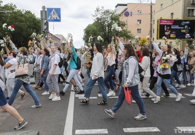 Протесты в Белоруссии: день четвертый