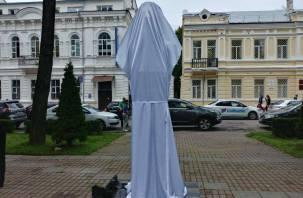В Смоленске «распаковали» памятник Ивану Клименко