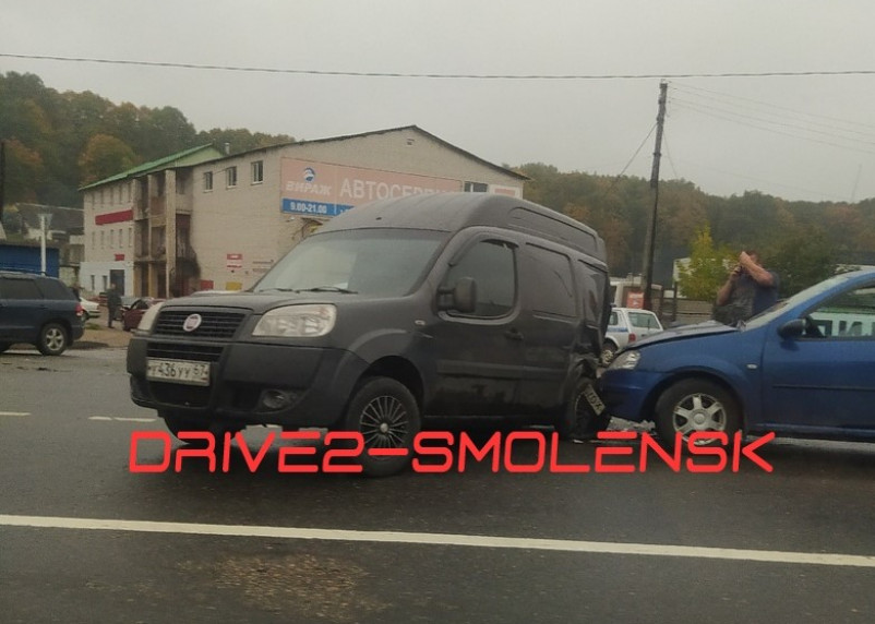 В Смоленске произошло ДТП на Московском шоссе