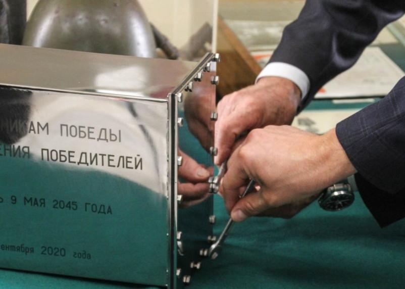 В Смоленске капсулу времени с посланием потомкам готовят к закладке