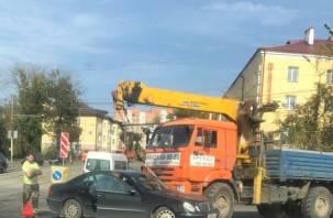 Авария в Заднепровье затрудняет движение транспорта