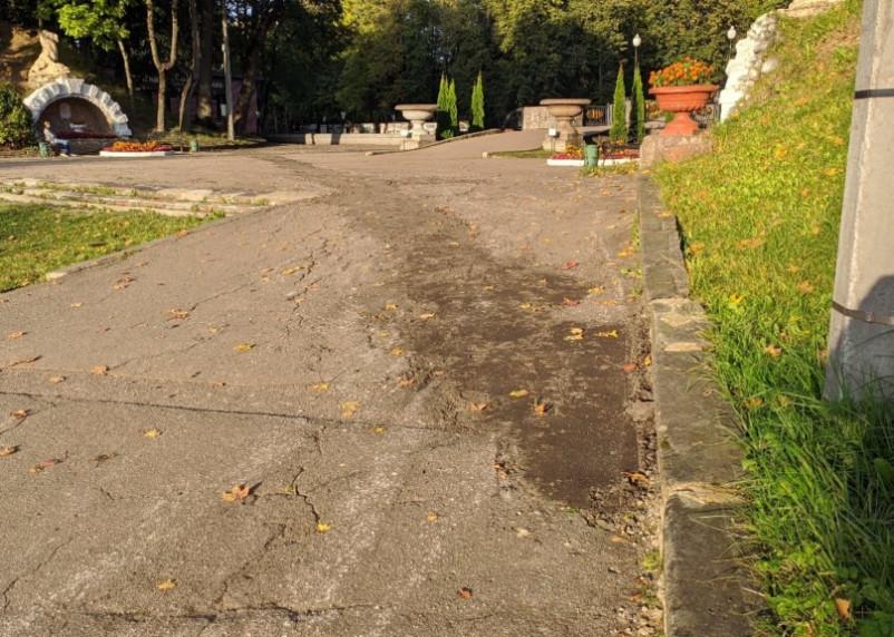 «Ямочный» ремонт городского парка возмутил смолян