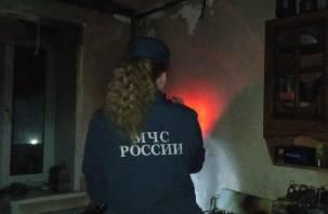 В Кардымовском районе при пожаре пострадал человек