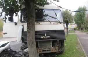 В тройном ДТП в Смоленске пострадал водитель МАЗа