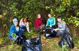 Уборкой мусора в Смоленске вместо коммунальных служб занялись волонтеры