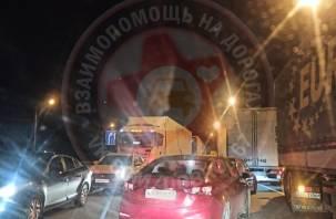 Трасса М-1 стала в многокилометровой пробке из-за ДТП в Смоленской области
