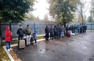 Смоленские пограничники задержали 17 нелегалов в Краснинском районе
