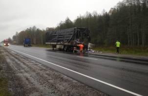 У грузовика лопнуло колесо. Спасатели сообщили о пожаре в Починковском районе