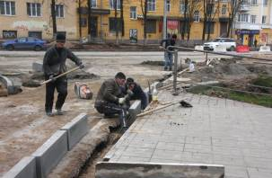 Бесконечный ремонт улицы Николаева в Смоленске. Показываем, что происходит