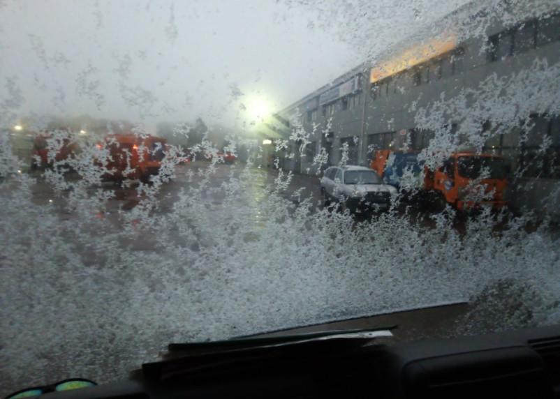 В Смоленске заметили первый снег