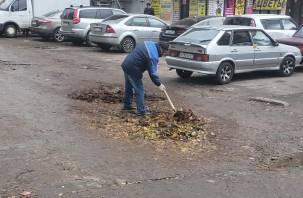 В Смоленске для ремонта дороги применили «нанотехнологии»